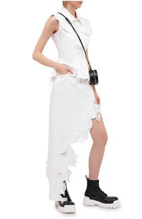 Женская джинсовая юбка DENIM X ALEXANDER WANG белого цвета, арт. 4DC2215943   Фото 2