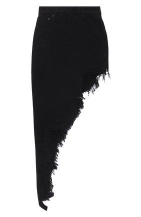 Женская джинсовая юбка DENIM X ALEXANDER WANG черного цвета, арт. 4DC2215174 | Фото 1