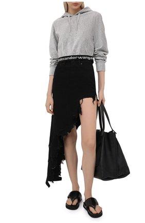 Женская джинсовая юбка DENIM X ALEXANDER WANG черного цвета, арт. 4DC2215174 | Фото 2