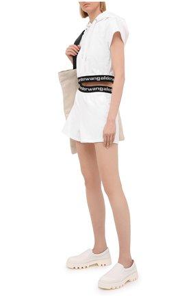 Женские шорты ALEXANDERWANG.T белого цвета, арт. 4CC1204025 | Фото 2
