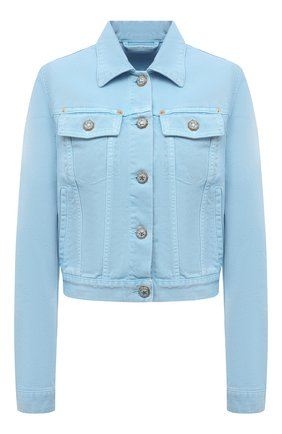 Женская джинсовая куртка VERSACE голубого цвета, арт. A89233/A236174 | Фото 1