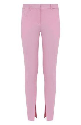 Женские шерстяные брюки VERSACE светло-розового цвета, арт. A89061/1F01050 | Фото 1