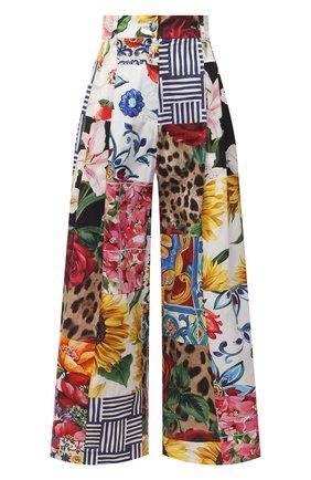 Женские хлопковые брюки DOLCE & GABBANA разноцветного цвета, арт. FTB30T/GDY03 | Фото 1