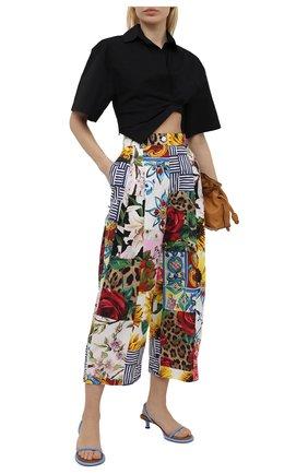 Женские хлопковые брюки DOLCE & GABBANA разноцветного цвета, арт. FTB30T/GDY03 | Фото 2