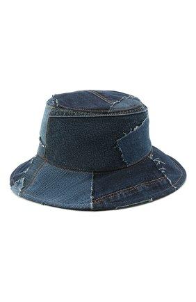 Женская шляпа DOLCE & GABBANA синего цвета, арт. FH641Z/GDY73   Фото 1 (Материал: Хлопок, Текстиль)