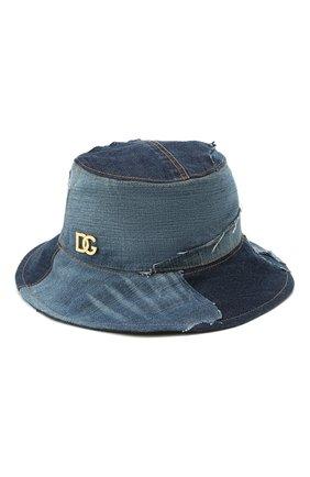Женская шляпа DOLCE & GABBANA синего цвета, арт. FH641Z/GDY73   Фото 2 (Материал: Хлопок, Текстиль)