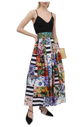 Женская хлопковая юбка DOLCE & GABBANA разноцветного цвета, арт. F4B3YT/GDY03 | Фото 2