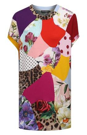 Женский топ из хлопка и шелка DOLCE & GABBANA разноцветного цвета, арт. F8N32T/G7YPC | Фото 1