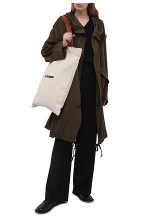Женская кожаные оксфорды MARSELL черного цвета, арт. MW6270/PELLE CAVALL0 | Фото 2