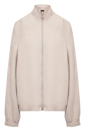 Женская куртка изо льна и шелка Y`S бежевого цвета, арт. YD-Y43-331 | Фото 1