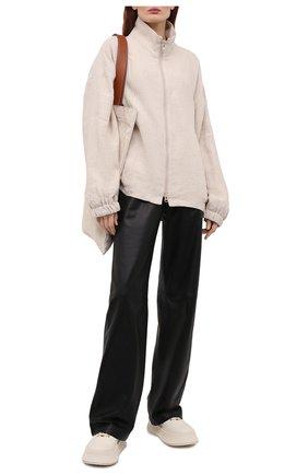 Женская куртка изо льна и шелка Y`S бежевого цвета, арт. YD-Y43-331 | Фото 2