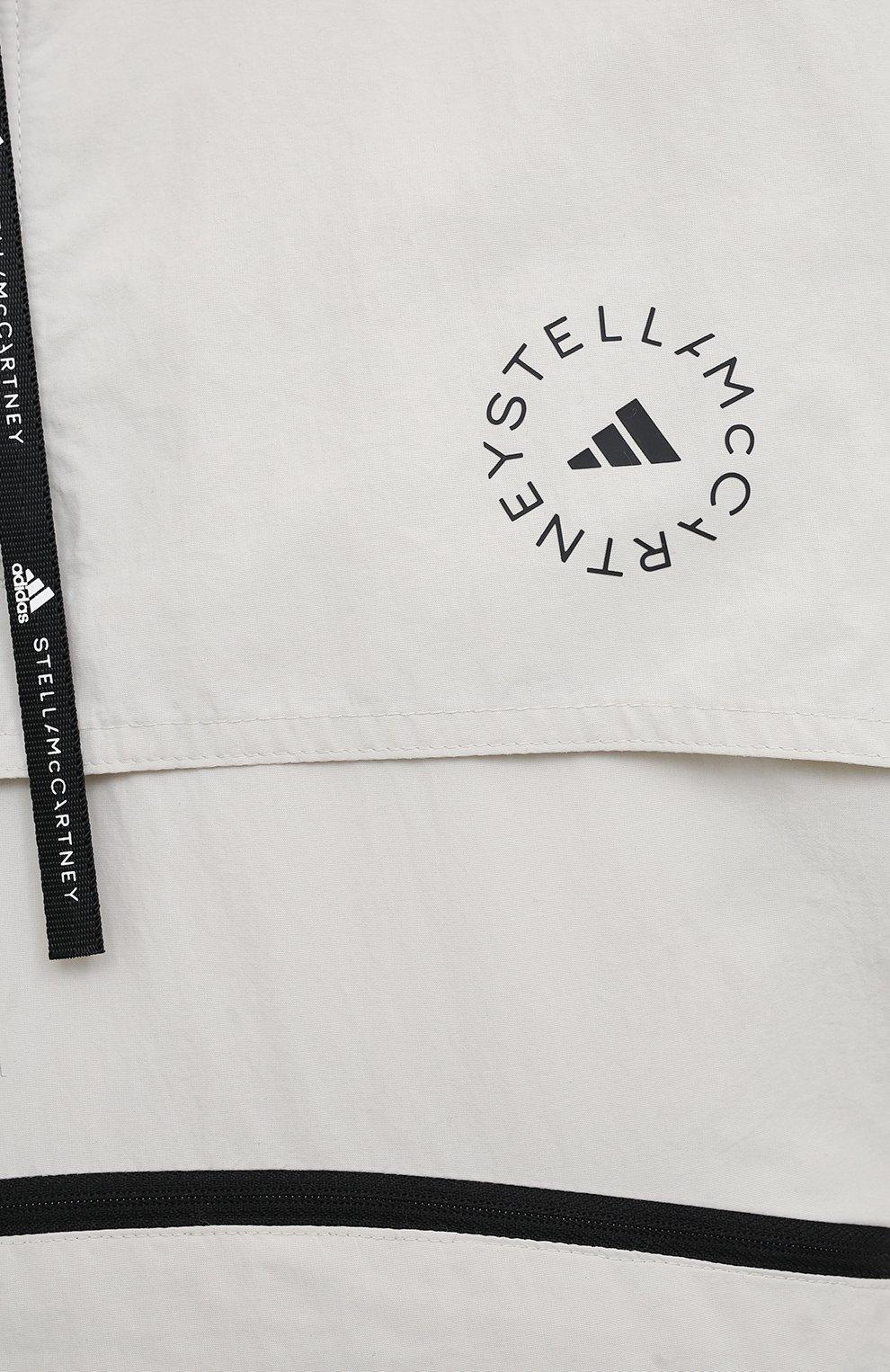 Женская ветровка ADIDAS BY STELLA MCCARTNEY серого цвета, арт. GL7630 | Фото 5 (Кросс-КТ: Куртка, Ветровка; Рукава: Длинные; Женское Кросс-КТ: Куртка-спорт; Материал внешний: Синтетический материал; Стили: Спорт-шик; Длина (верхняя одежда): Короткие)