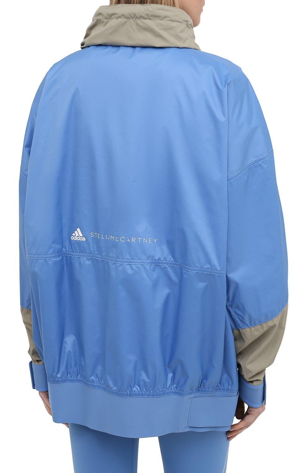 Женская ветровка ADIDAS BY STELLA MCCARTNEY голубого цвета, арт. GL7332 | Фото 4 (Кросс-КТ: Куртка, Ветровка; Рукава: Длинные; Женское Кросс-КТ: Куртка-спорт; Длина (верхняя одежда): До середины бедра; Материал внешний: Синтетический материал; Стили: Спорт-шик)