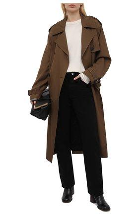 Женские кожаные ботильоны gaile CHLOÉ черного цвета, арт. CHC21S411L4   Фото 2