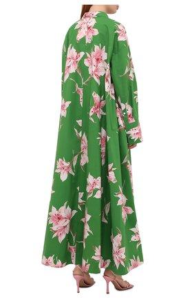 Женское хлопковое платье VALENTINO зеленого цвета, арт. VB0VDBU66DC   Фото 4