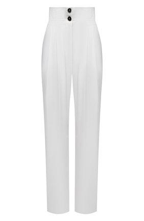 Женские хлопковые брюки PHILOSOPHY DI LORENZO SERAFINI белого цвета, арт. A0317/2119 | Фото 1