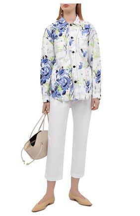 Женские хлопковые брюки PHILOSOPHY DI LORENZO SERAFINI белого цвета, арт. A0317/2119 | Фото 2