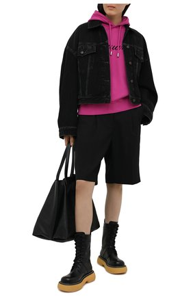 Женский хлопковое худи DSQUARED2 розового цвета, арт. S72GU0317/S25462 | Фото 2