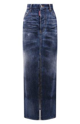 Женская джинсовая юбка DSQUARED2 синего цвета, арт. S72MA0837/S30309 | Фото 1