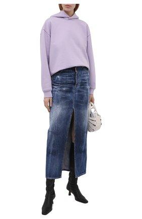 Женская джинсовая юбка DSQUARED2 синего цвета, арт. S72MA0837/S30309 | Фото 2