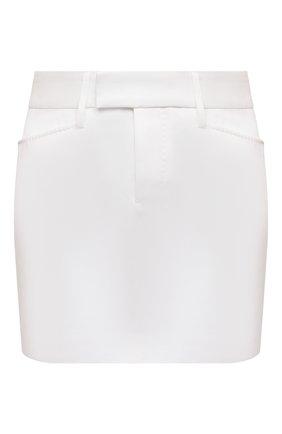 Женская хлопковая юбка DSQUARED2 белого цвета, арт. S72MA0841/S43920 | Фото 1