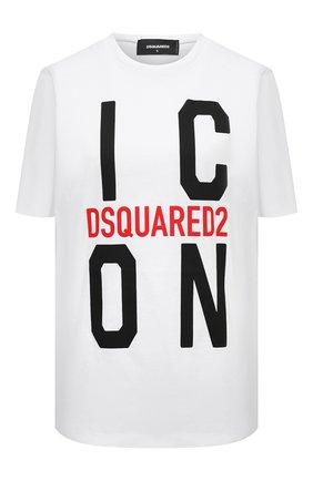 Женская хлопковая футболка DSQUARED2 белого цвета, арт. S80GC0024/S23009 | Фото 1