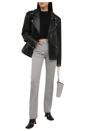 Женские джинсы GIVENCHY черно-белого цвета, арт. BW50QB13N0 | Фото 2