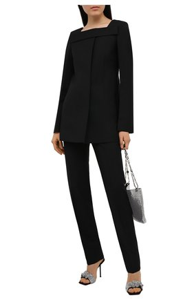 Женские шерстяные брюки GIVENCHY черного цвета, арт. BW50PH13QB | Фото 2