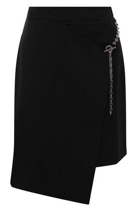 Женская шерстяная юбка GIVENCHY черного цвета, арт. BW40H913QB | Фото 1