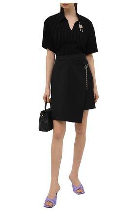Женская шерстяная юбка GIVENCHY черного цвета, арт. BW40H913QB | Фото 2