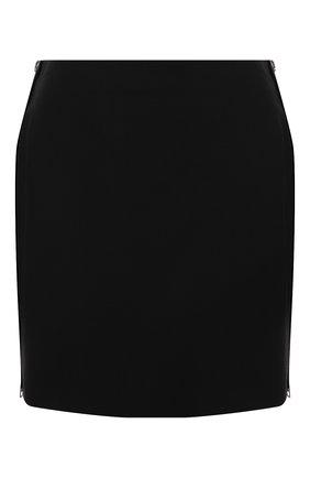 Женская шерстяная юбка GIVENCHY черного цвета, арт. BW40H113QB | Фото 1