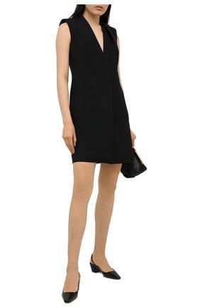 Женское шерстяное платье GIVENCHY черного цвета, арт. BW214513QB | Фото 2