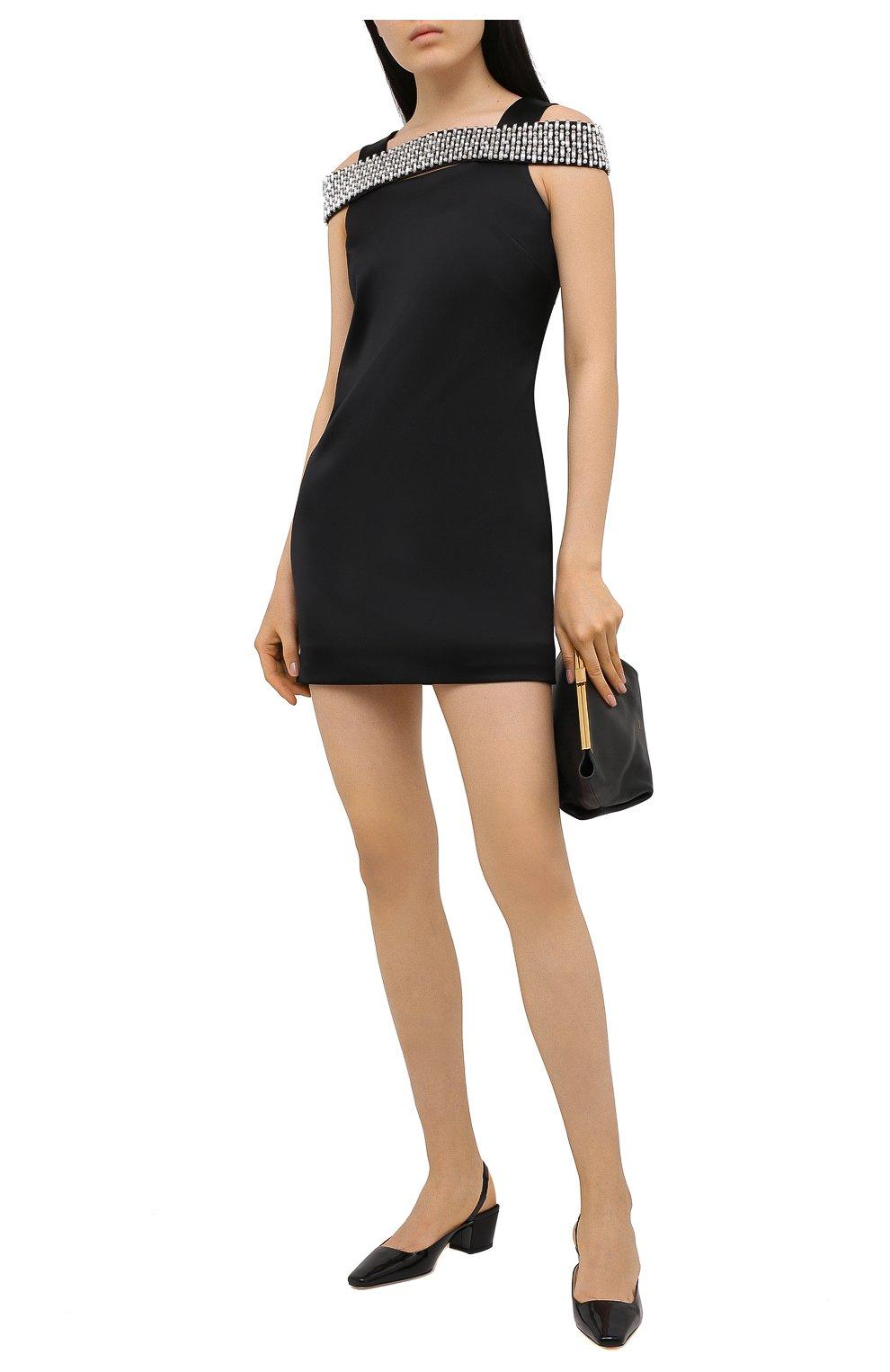 Женское платье из вискозы GIVENCHY черного цвета, арт. BW213TG0QS | Фото 2 (Случай: Коктейльный; Стили: Гламурный; Длина Ж (юбки, платья, шорты): Мини; Материал внешний: Вискоза; Рукава: Без рукавов; Материал подклада: Шелк; Женское Кросс-КТ: Платье-одежда)