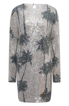 Женское платье с пайетками IN THE MOOD FOR LOVE серебряного цвета, арт. ALEXANDRA PALM TREE DRESS | Фото 1