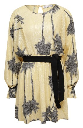 Женское платье с пайетками IN THE MOOD FOR LOVE желтого цвета, арт. CRISSA DRESS | Фото 1