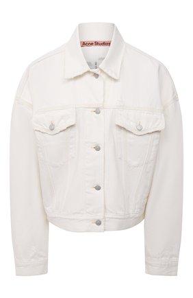 Женская джинсовая куртка ACNE STUDIOS белого цвета, арт. A90354   Фото 1