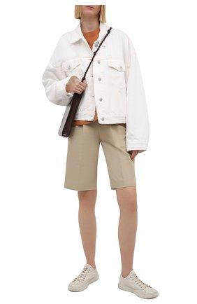 Женская джинсовая куртка ACNE STUDIOS белого цвета, арт. A90354   Фото 2