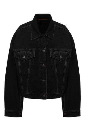 Женская джинсовая куртка ACNE STUDIOS черного цвета, арт. A90302 | Фото 1