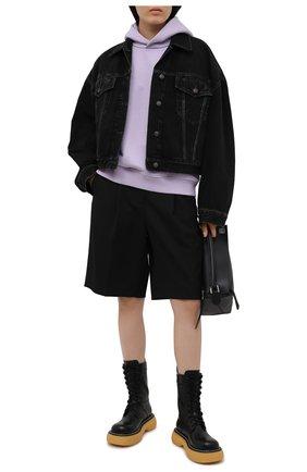 Женская джинсовая куртка ACNE STUDIOS черного цвета, арт. A90302 | Фото 2