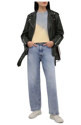 Женские джинсы ACNE STUDIOS голубого цвета, арт. C00025/W | Фото 2