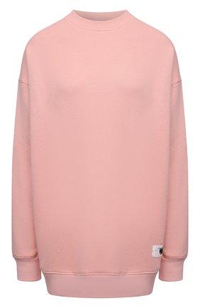 Женский хлопковый свитшот ACNE STUDIOS светло-розового цвета, арт. AI0082 | Фото 1