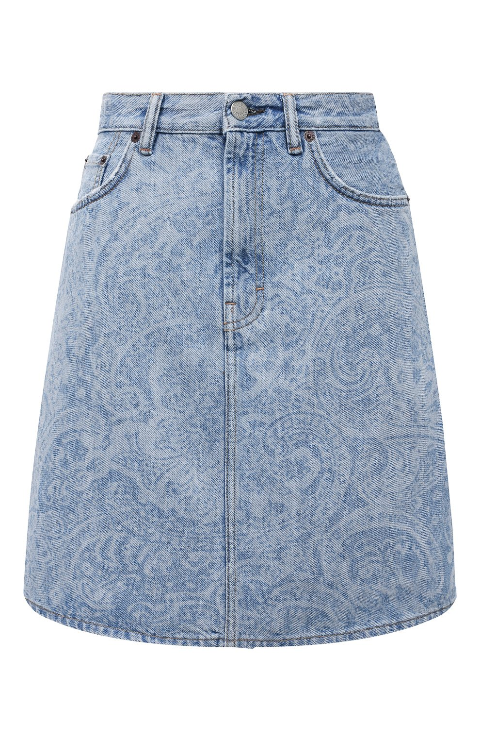 Женская джинсовая юбка ACNE STUDIOS голубого цвета, арт. AF0189 | Фото 1