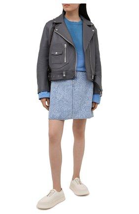 Женская джинсовая юбка ACNE STUDIOS голубого цвета, арт. AF0189 | Фото 2