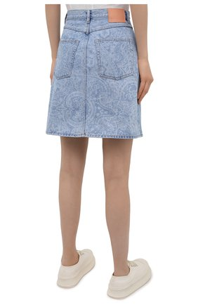 Женская джинсовая юбка ACNE STUDIOS голубого цвета, арт. AF0189 | Фото 4