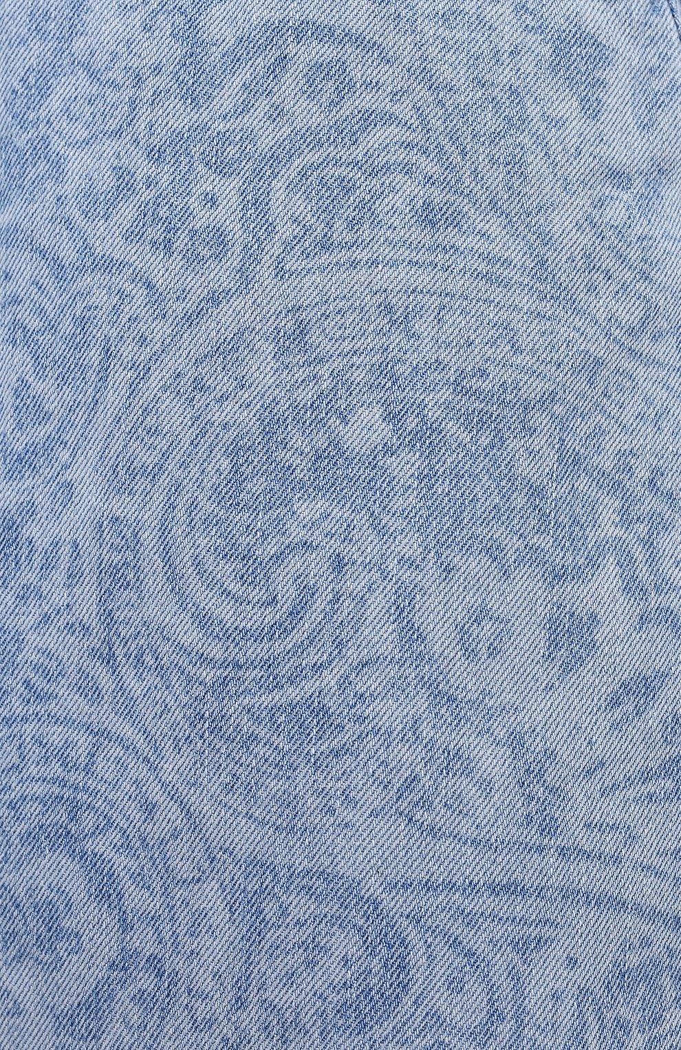 Женская джинсовая юбка ACNE STUDIOS голубого цвета, арт. AF0189 | Фото 5