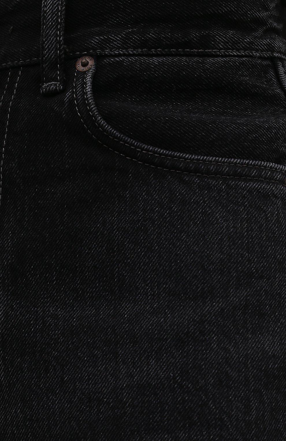 Женские джинсовые шорты ACNE STUDIOS черного цвета, арт. AE0040 | Фото 5 (Женское Кросс-КТ: Шорты-одежда; Кросс-КТ: Деним; Длина Ж (юбки, платья, шорты): Мини; Материал внешний: Хлопок; Стили: Кэжуэл)