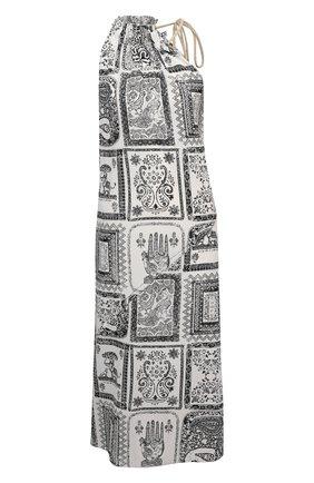 Женское платье из вискозы и шелка ACNE STUDIOS черно-белого цвета, арт. A20288 | Фото 1