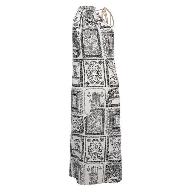 Платье из вискозы и шелка Acne Studios