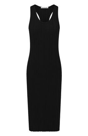 Женское платье из вискозы ACNE STUDIOS черного цвета, арт. A20269   Фото 1