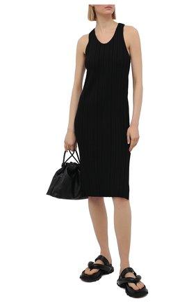 Женское платье из вискозы ACNE STUDIOS черного цвета, арт. A20269   Фото 2